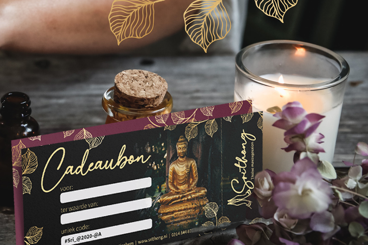 Srithong Thaise masaagesalon cadeaubon voor vaderdag