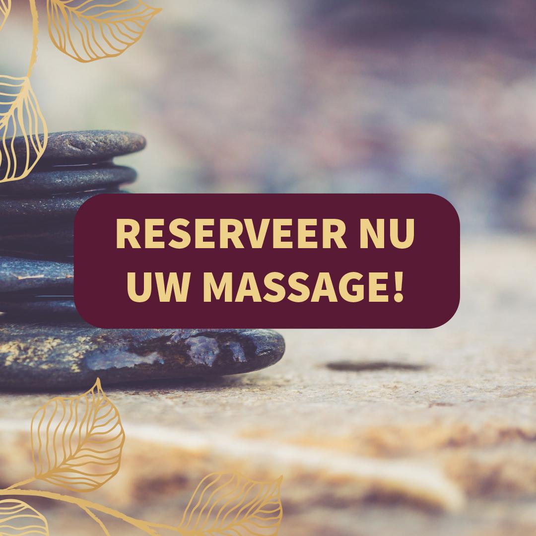 Reserveer nu uw massage!